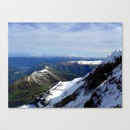 Switzerland: Jungfrau Ice and Mountains Three Canvas Print
