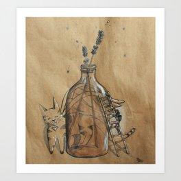 The Lavender Bottle Art Print
