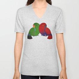 Eclectus Parrots Unisex V-Neck