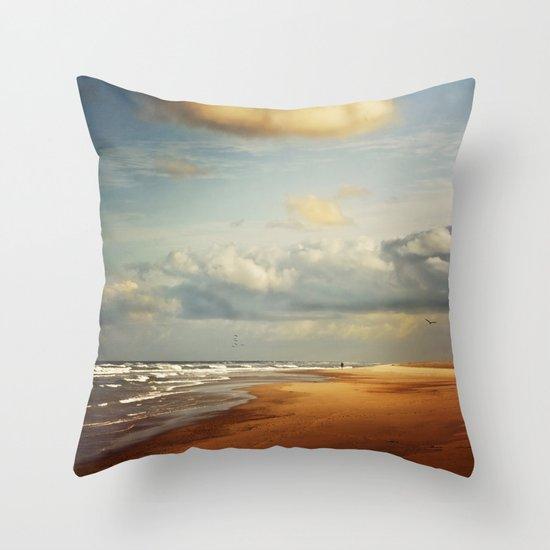 my dream beach Throw Pillow
