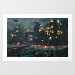 Dystopian Industrial Future Art Print