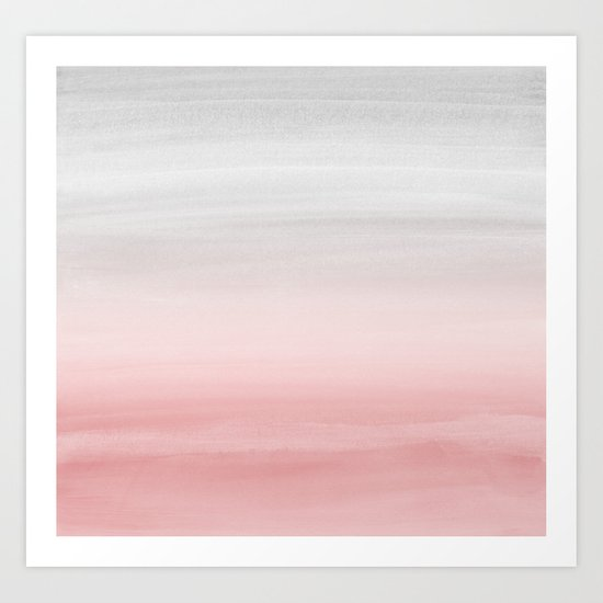 Touching Blush Gray Watercolor Abstract #1 #painting #decor #art #society6 by anitabellajantz