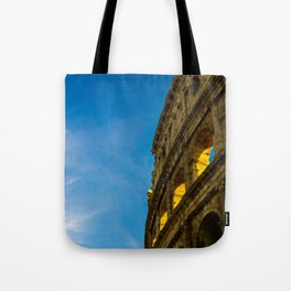 Sunset Hitting The Roman Colosseum Tote Bag