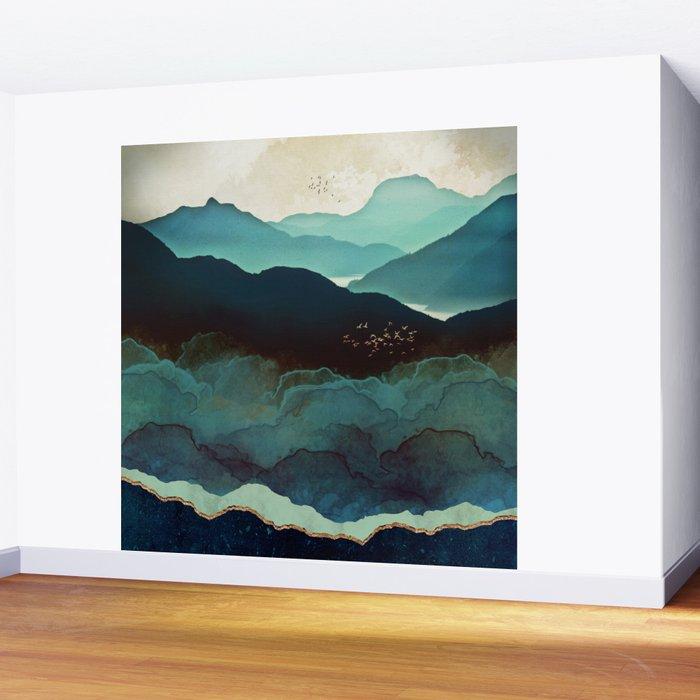 Indigo Mountains Wall Mural