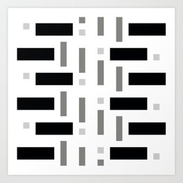 Pattern of Squares Art Print