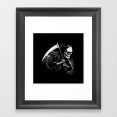 DEATH WILL HAVE HIS DAY Framed Art Print