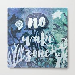 No Wake Zone Metal Print