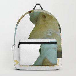 Peeking Duck With Fun Oriental Text Backpack