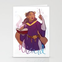 wizard Stationery Cards featuring Wizard by Regina Legaspi