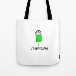 Battery charging Tote Bag