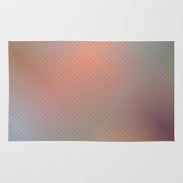 Abstract gradient art geometric background with soft color tone, cell grid. Rug