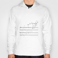 music notes Hoodies featuring Natural Notes by Sokol Selmani