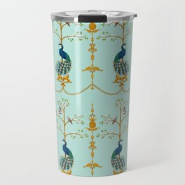 Rococo Peacocks Travel Mug