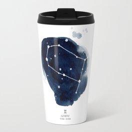 Zodiac Star Constellation - Gemini Travel Mug