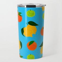 Happy citrus pattern Travel Mug