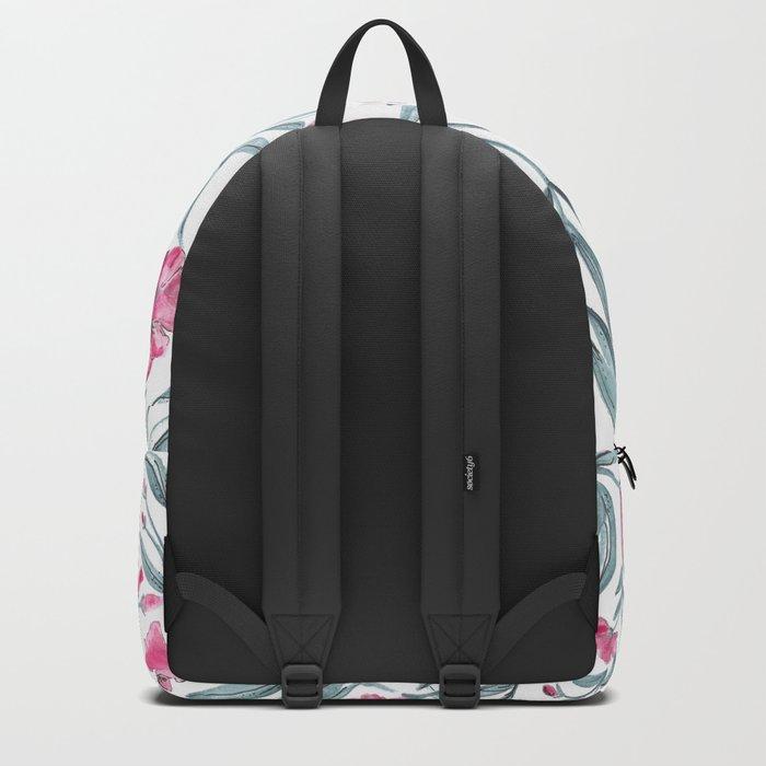 Nerium Oleander Pattern Backpack