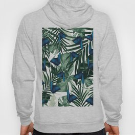 Tropical Butterfly Jungle Leaves Pattern #1 #tropical #decor #art #society6 Hoody