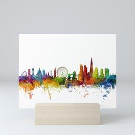 London England Skyline Cityscape Mini Art Print