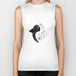 Ying Yang and the White Whale  Biker Tank