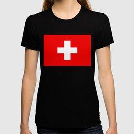 Flag of Switzerland - Authentic (High Quality Image) T-shirt