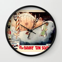 Vintage Movie Lobby Card, The Brave Tin Soldier Wall Clock