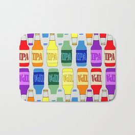 RAINBOW IPA BEER PATTERN Bath Mat