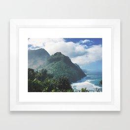 Na Pali Coast Kauai Hawaii Framed Art Print