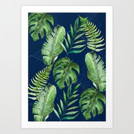 Tropical Leaves Banana Palm Tree Art Print