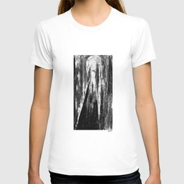 Neon tunnels - Black and white T-shirt