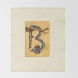 Animal's Alphabet - B for 'Babbuino' Throw Blanket