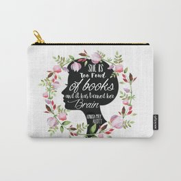 Too Fond Of Books Carry-All Pouch