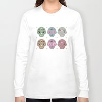 sugar skulls Long Sleeve T-shirts featuring Sugar Skulls by Terry Lee