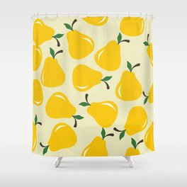 Lovely Yellow Pear Shower Curtain