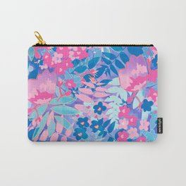 Pastel Watercolor Flowers Carry-All Pouch