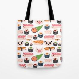 Kawaii sushi white Tote Bag