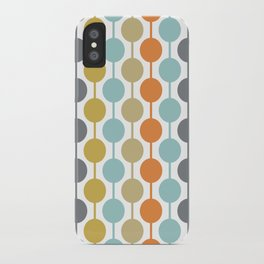 Retro Circles Mid Century Modern Background iPhone Case