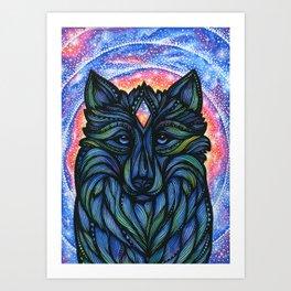 Galactic Wolf Art Print