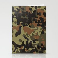 david fleck Stationery Cards featuring Fleck Tarn Camoflauge  by Derek Boman