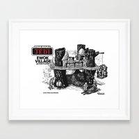 ewok Framed Art Prints featuring Ewok Village by foreverwars