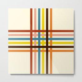 Classic Retro Stripes Crossed Cerastes Metal Print