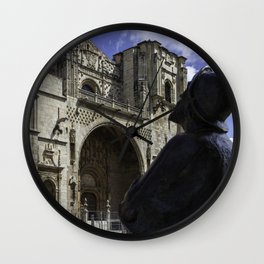 Camino Pilgrim Leon Spain Wall Clock