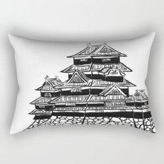 The Black Castle  Rectangular Pillow