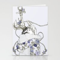 coconutwishes Stationery Cards featuring Larry by Coconut Wishes