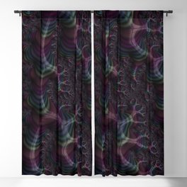 Branching Rainbow Fractal Blackout Curtain