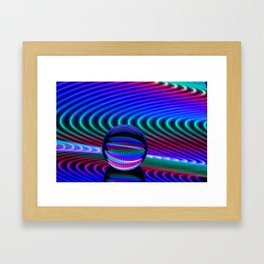 Colours in the glass Framed Art Print