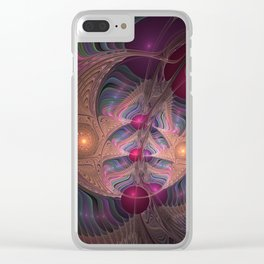 Colorful Abstract Fractal Clear iPhone Case