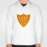 super heroes Hoodies featuring STRANGE SUPER HEROES by yhello designer