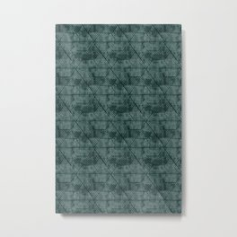 cadence triangles - dark green Metal Print