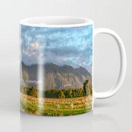 Nothing To See Just Landscape With Sheep In New Zealand South Island Panorama By Olena Art Coffee Mug