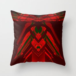 look behind the wooden structure Throw Pillow